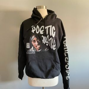 Poetic Justice 2Pac hooded sweatshirt